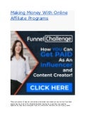 Making money with online affiliate programs