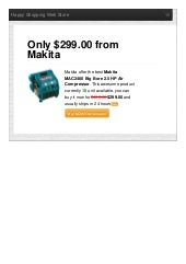 Makita offer the best mac2400 big bore 2 only 29900 reviews