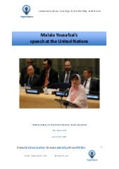 Malala Yousafzai Speech at the UN.