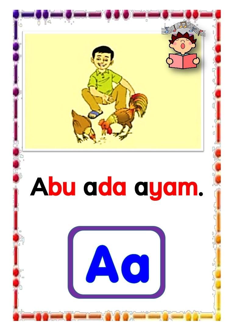 Vocabulary from song: abu ada ayam.