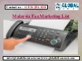 Malaysia Fax Marketing List