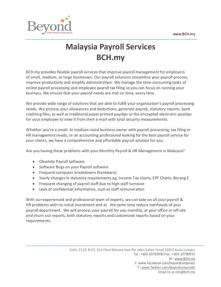 Malaysia payroll - BCH my