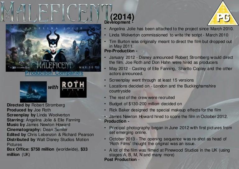 Maleficent (2014) Case Study