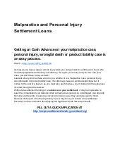 Malpractice settlement advances for Victims