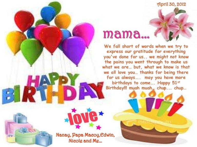 Mamas Birthday Card 4