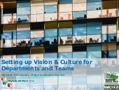 Setting up Vision & Culture for Departments and Teams