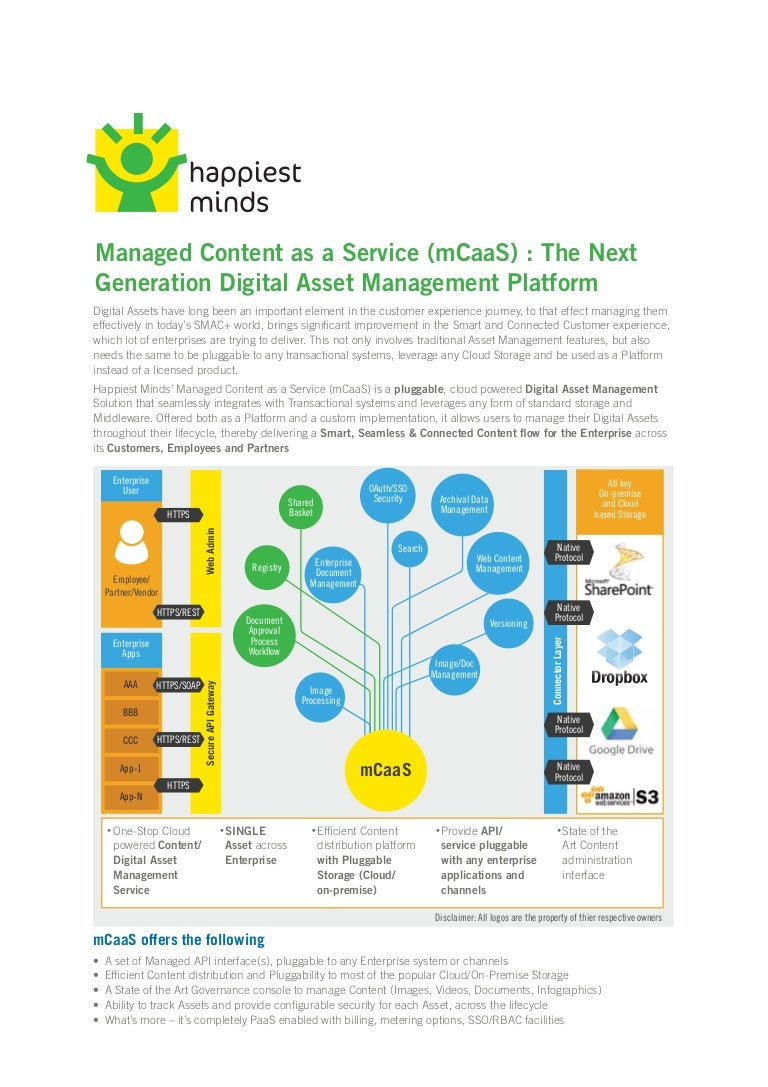 brochure managed content as a service mcaas digital asset manage