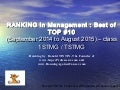 RANKING in Management : Best TOP 10 from September 2014 to August 2015 by Ronald Tintin and www.SuperProfesseur.com. Congratulations Eve Bieuvelet, Tiffany Bevilacqua...