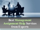 Best Management Assignment Help Services from Experts