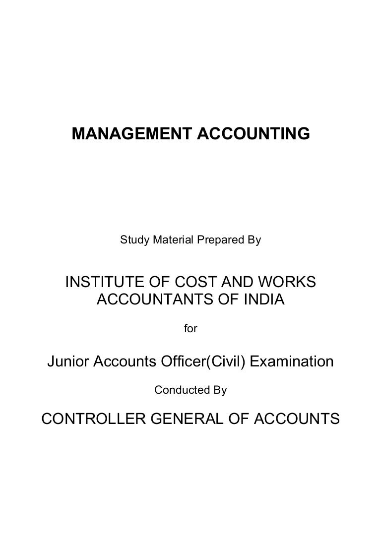 management cost accounting book bec doms