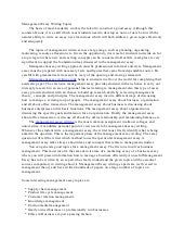 what is management essay