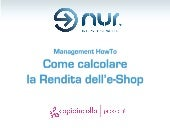 Management how to   come calcolare la rendita dell'e-shop