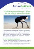 Management mirage   why things are not always what they seem