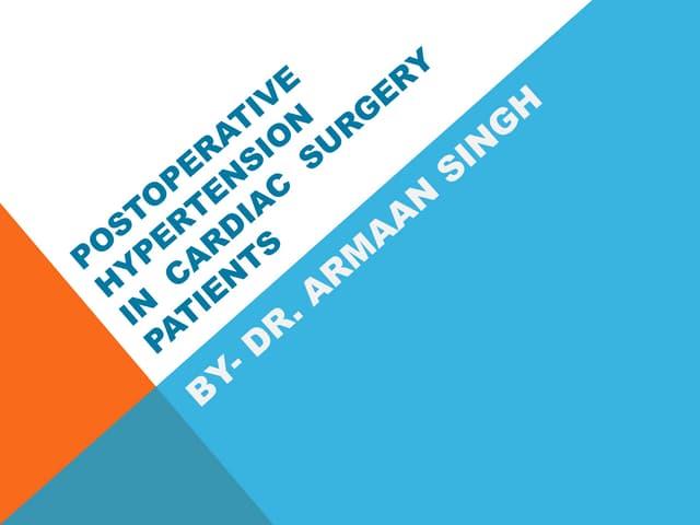 Management of postoperative hypertension.pptx