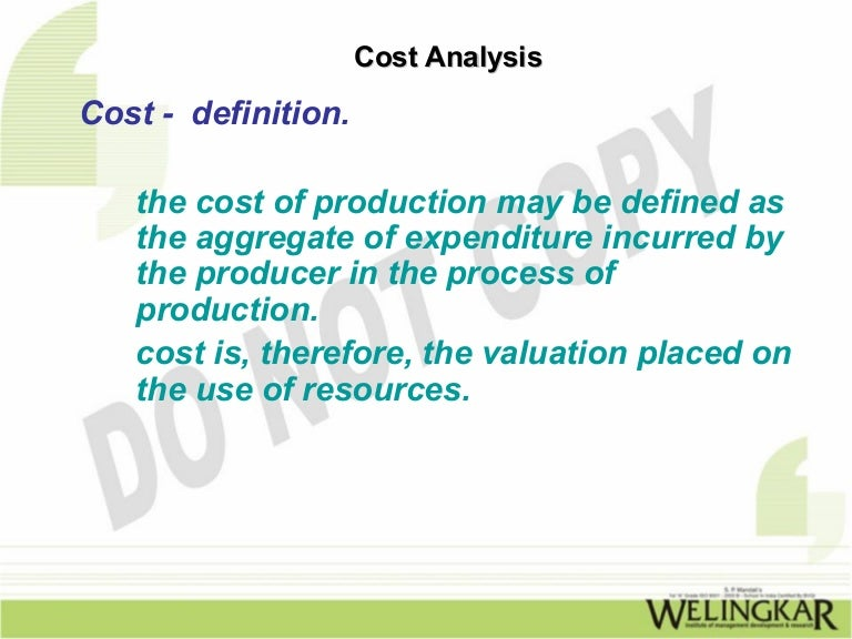 cost analysis in managerial economics