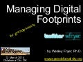 Managing Digital Footprints - for grandparents (March 2014)