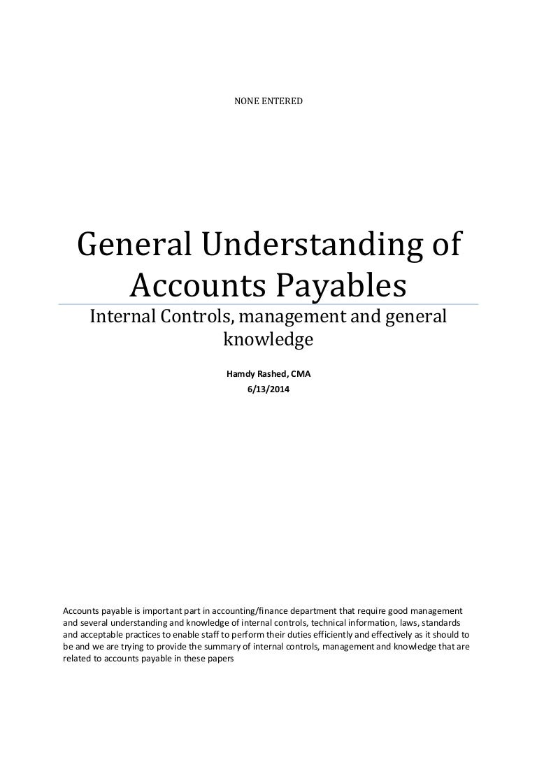 managing accounts payables process