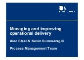 Managing and improving operational delivery - National Audit Office process management team