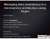 microXchg: Managing data consistency in a microservice architecture using Sagas