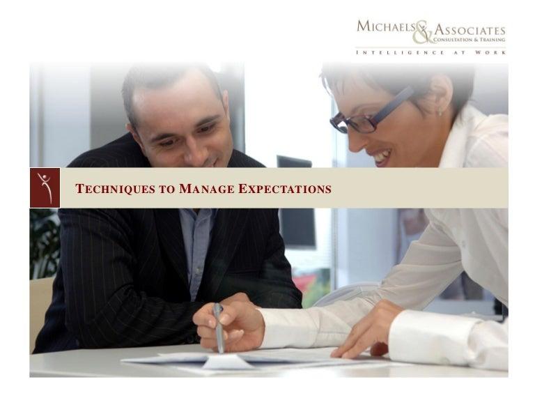 managing expectations training