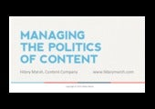 Managing the Politics of Content with Hilary Marsh