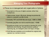 Managing your photos 20min 20150526