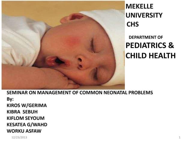 Minor disorders of newborn