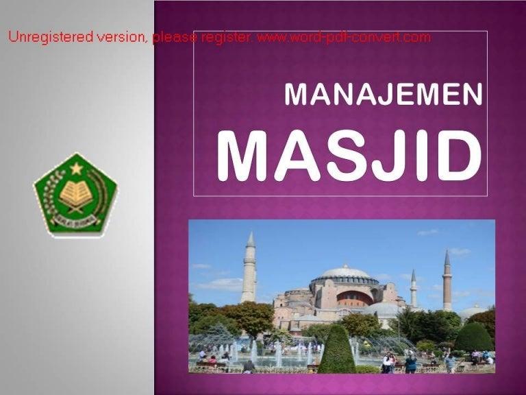 Manajemen Masjid 2