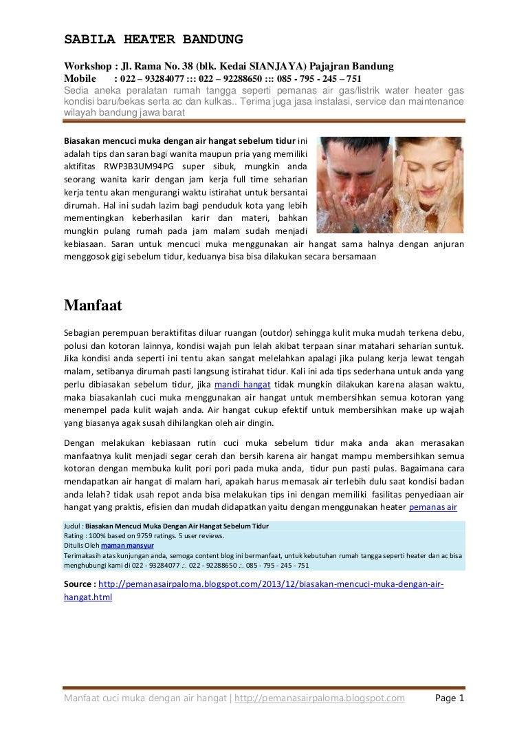 Manfaat Cuci Muka Menggunakan Air Hangat
