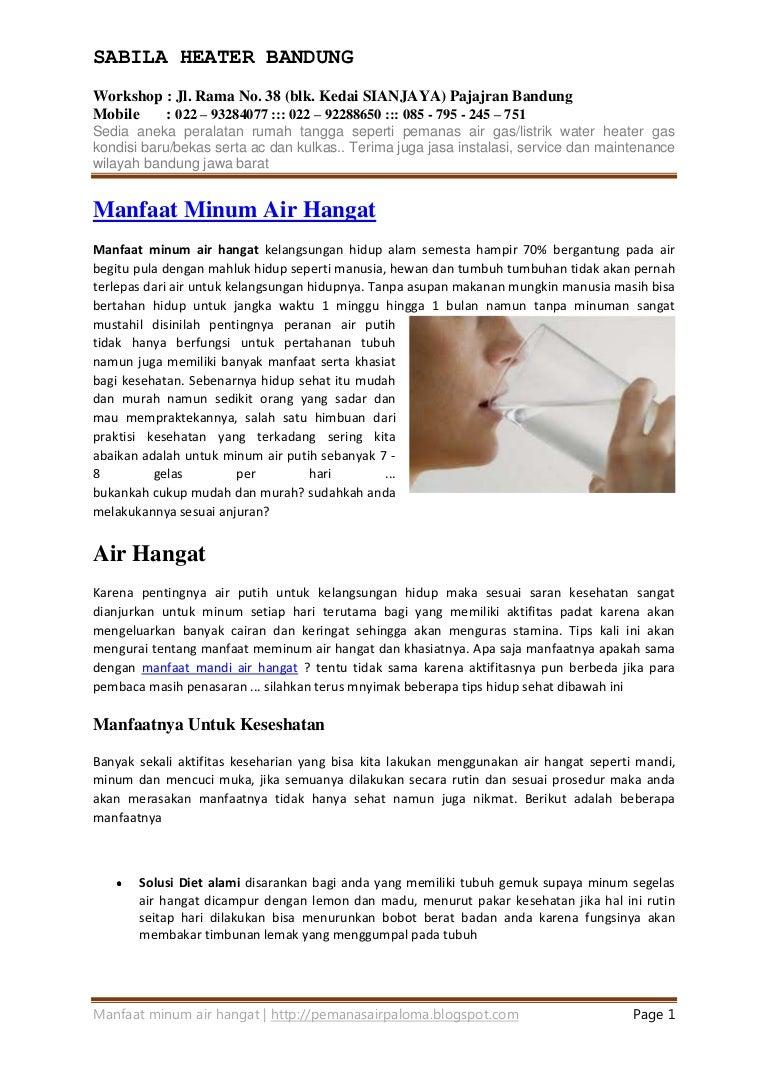 Manfaat Minum Air Hangat Hebat