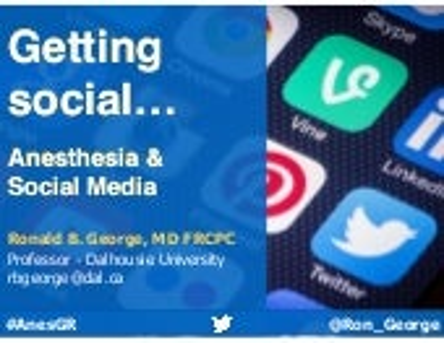 Anesthesia & Social media