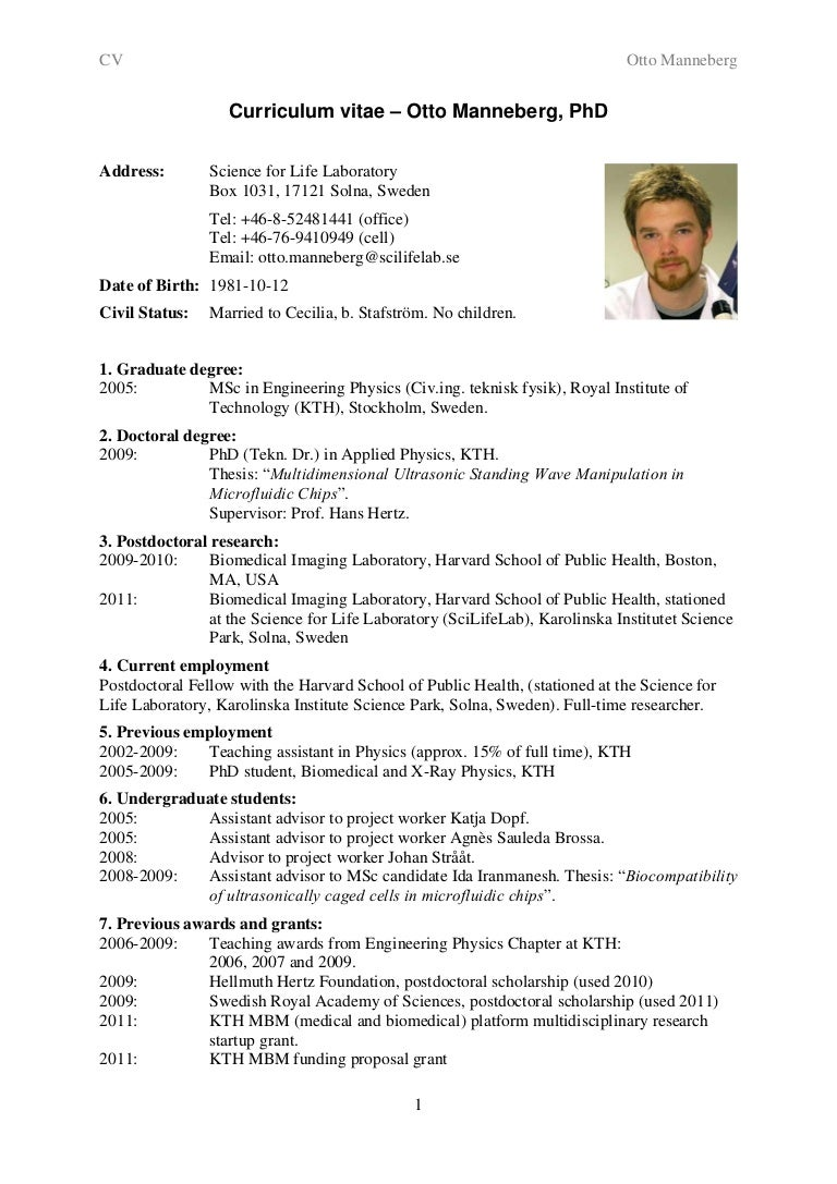 Resume Academic Samples