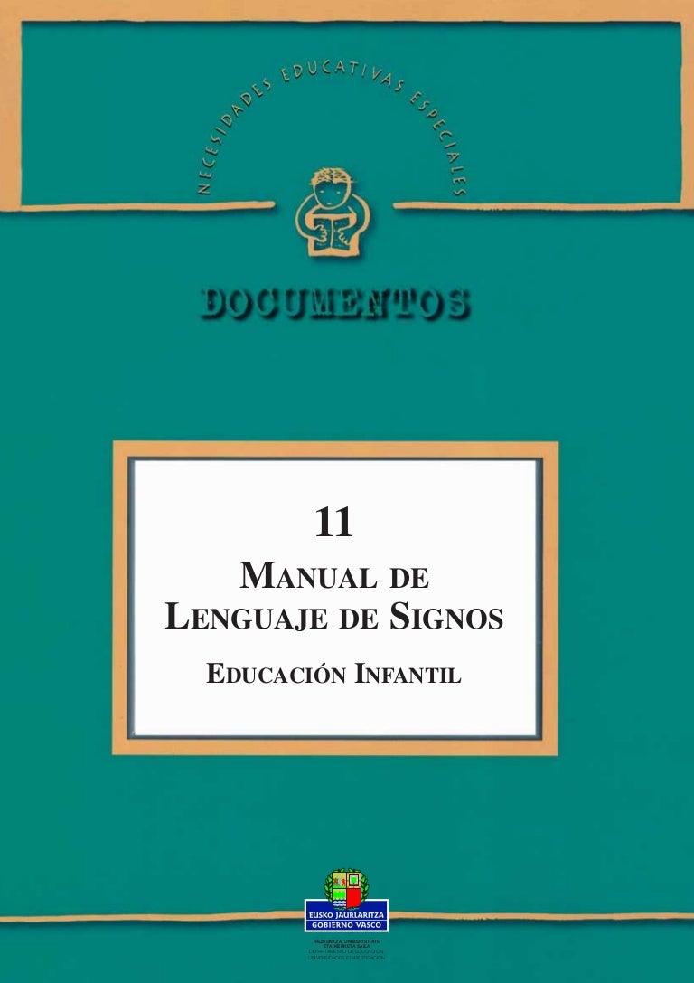 Manual infantil de lengua de signos