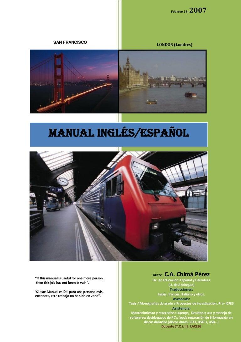 Ingles Esquema De Gramatca Manual Espanol xBhtrsQdC