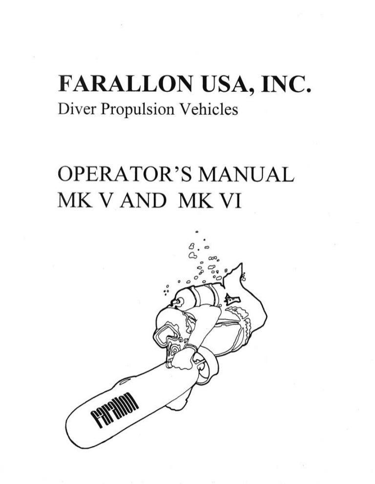 Farallon Scooter DPV Manual mk5-mk6