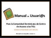 Manual usuarios/as  www.comunidad.cact.net.do
