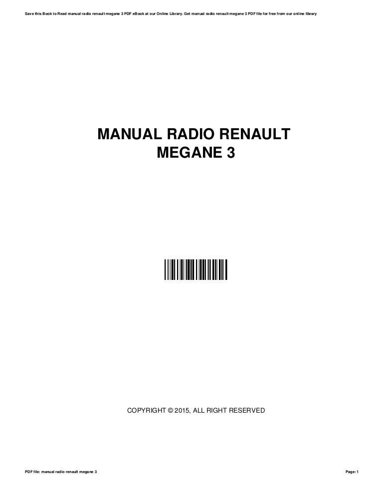 Manual megane 1 ebook array manual radio renault megane 3 rh slideshare fandeluxe Image collections