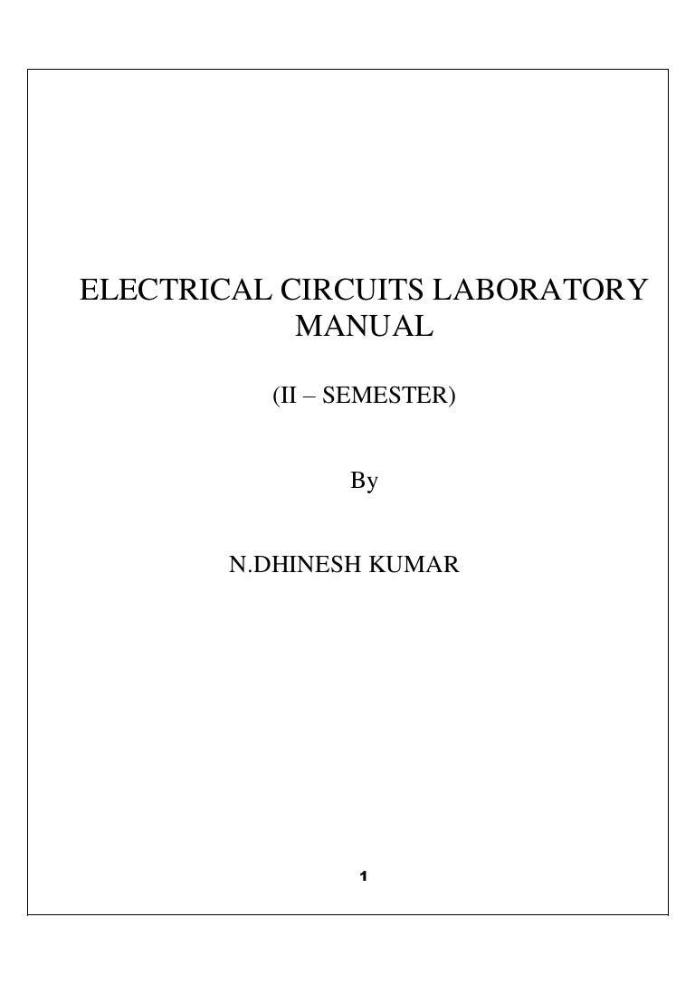 Manual 2 Electrical Wiring Lab