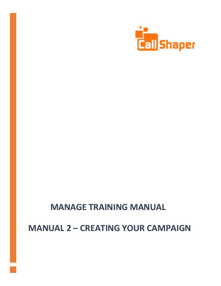 callshaper outbound software manual 2 creating a campaign