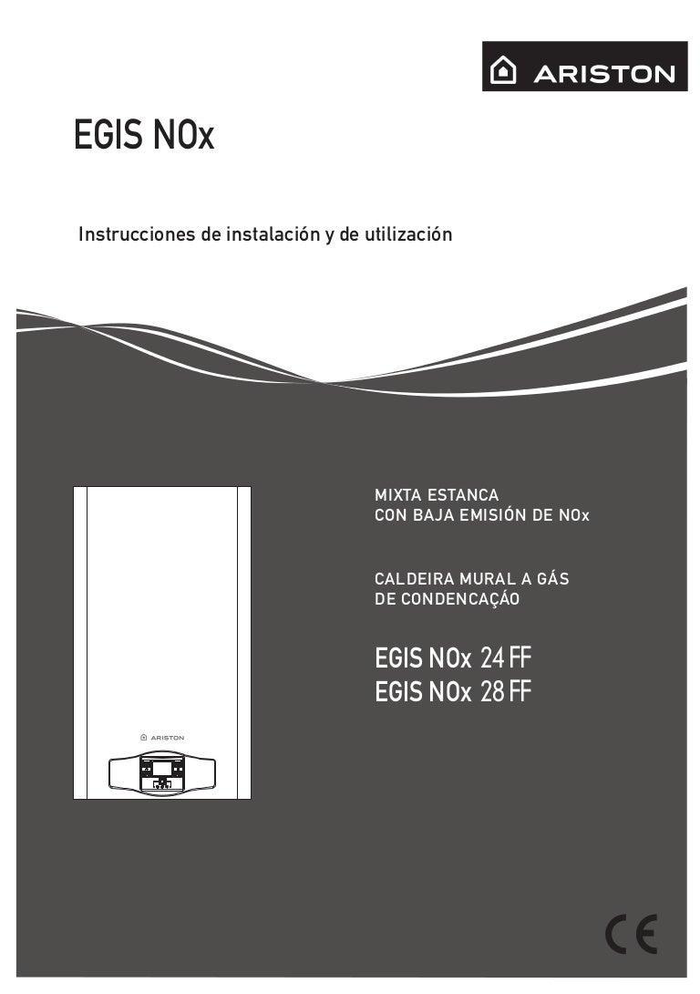 Manual condensación ariston egis premium 24 ff.