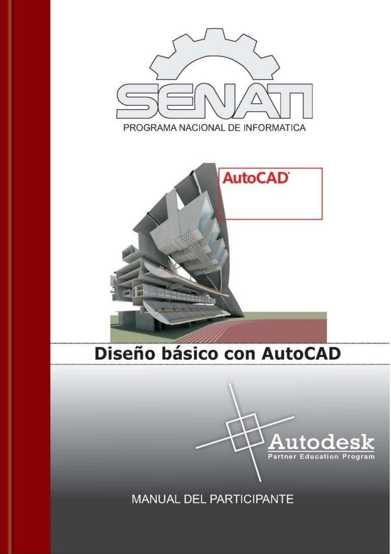 manual auto cad basico senati rh slideshare net manual basico de autocad 2010 en español gratis descargar manual autocad 2010 español pdf gratis