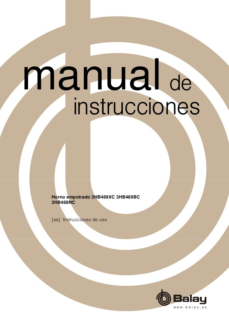 Manual balay horno 3hb469bc