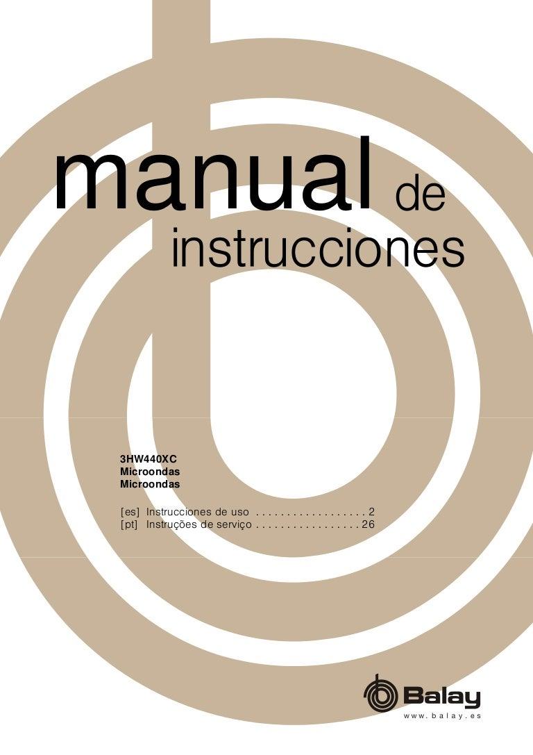 Manual balay horno 3hw440xc