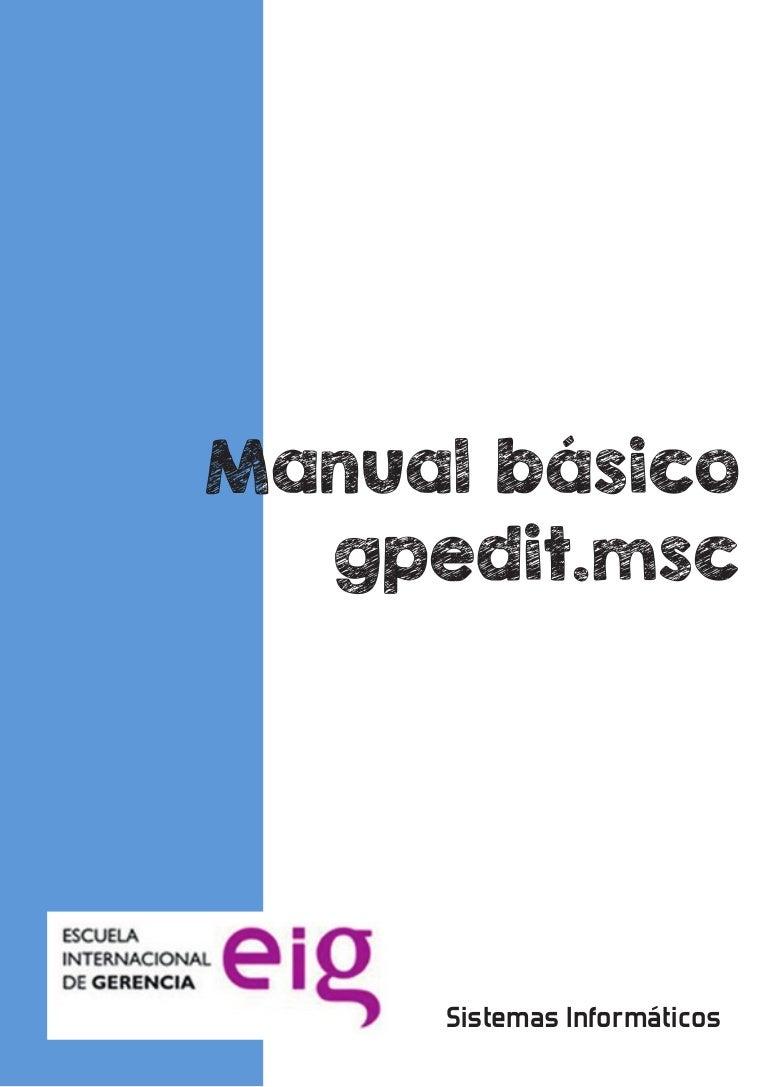 Manual básico GPEDIT