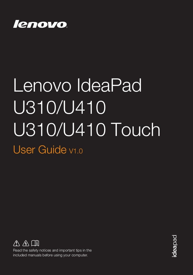 Manual Book Lenovo U410 Usb Wiring Diagram