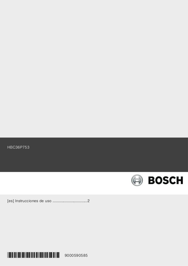 Manual bosch horno compacto hbc36 p753