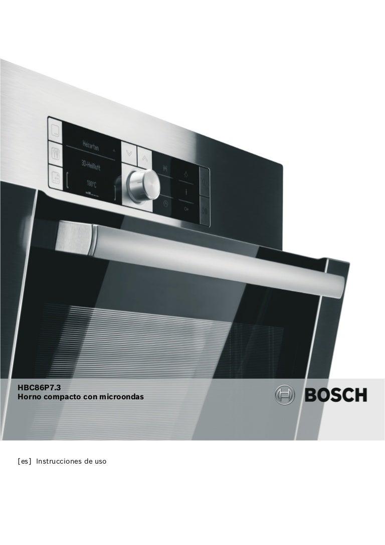 Manual bosch horno multifunción en inox hbc86 p753