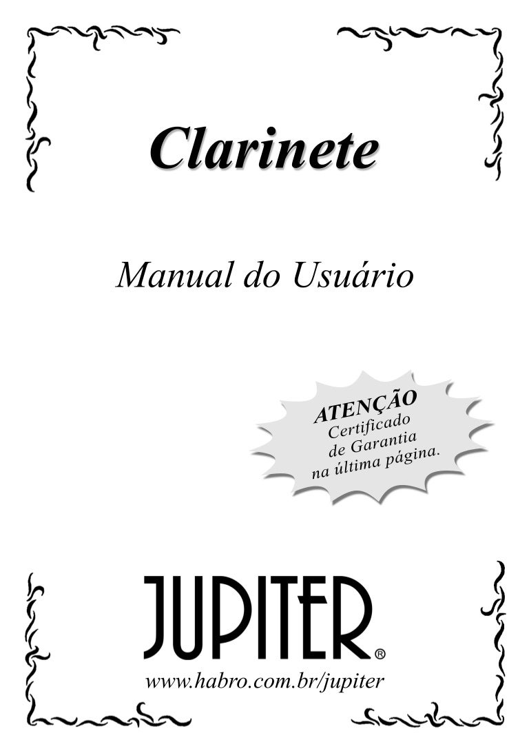 Manual da familia clarinetes jupiter (português)