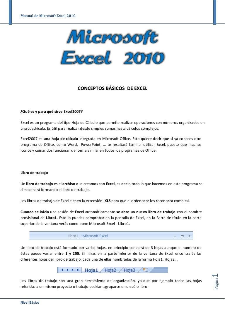 Manual de Office Excel 2010