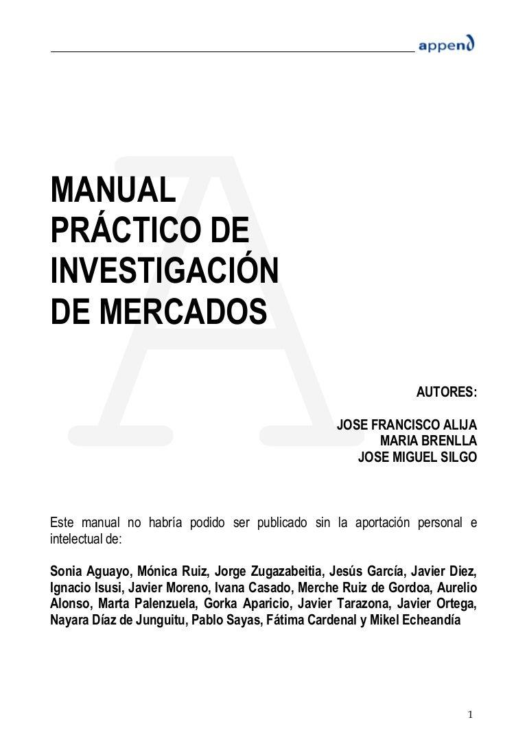 Manual de investigacion de mercado